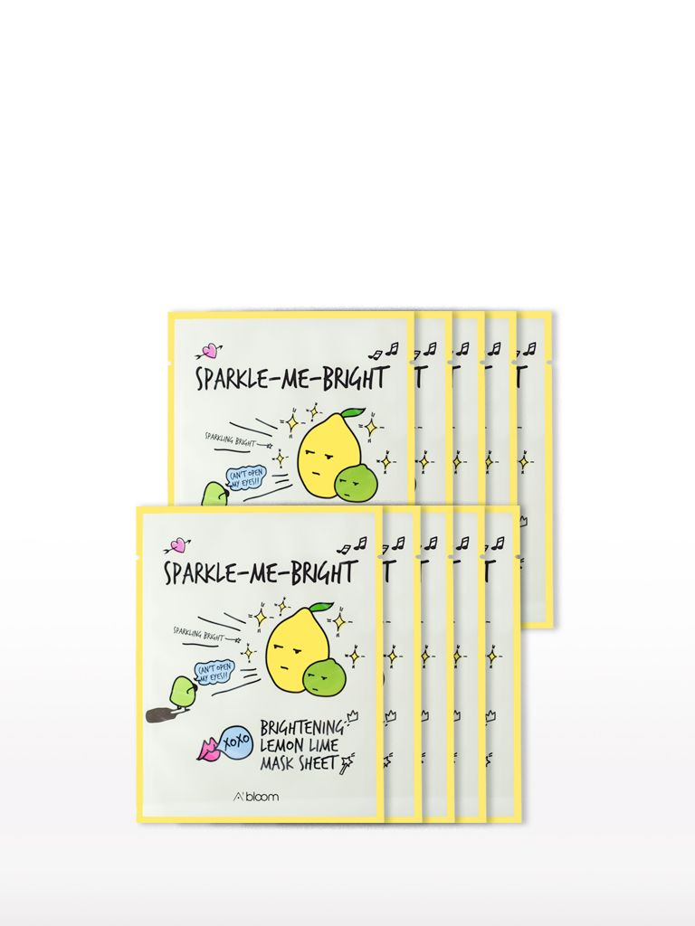 A'BLOOM Brightening Lemon Lime Mask (10 Sheets)