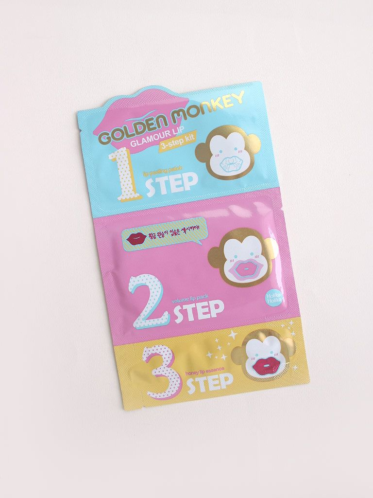 Buy Holika Golden Monkey Glamour Lip 3 Step 55g At Althea 5 Pure Essence Mask Sheet Shea Butter