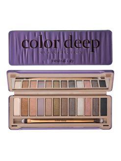 Color Deep 12 Color Eyeshadow Palette (1.5g*12ea)_Neutral City