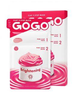JUST GO GO Just Go Go Clay 2-Step Mask Brightening 1 Sheet (6ml / 23ml)