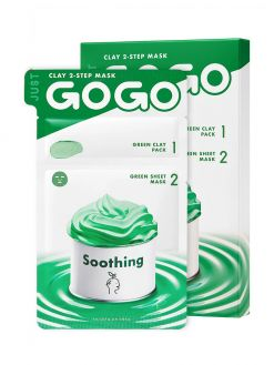 JUST GO GO Just Go Go Clay 2-Step Mask Soothing 1 Sheet (6ml / 23ml)