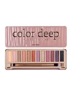 Color Deep 12 Color Eyeshadow Palette (1.5g*12ea)_Glam Shine
