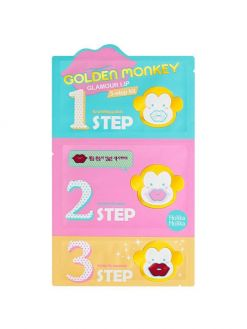 Holika Holika Gold Monkey Glamour Lip 3 Step (5.5g)
