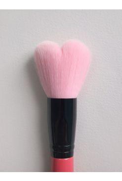 Lovely Pink Heart Multi Volume Brush