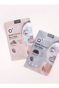 O2 Bubble Black Mask 1 Sheet (20ml)