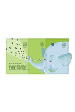 Nature Republic BlackHead Clear 3-Step Nose Pack (6.2g)