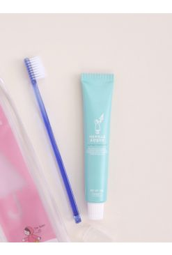 Toothbrush & Toothpaste Travel Set (50g)_Pink