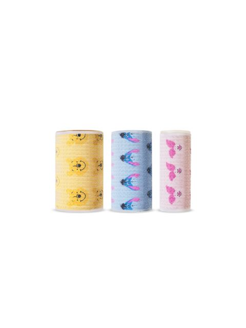 [Happy with Piglet] Hair Roll 3 Set (38mm x 30mm x 25mm)