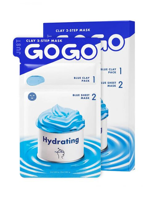 Just Go Go Clay 2-Step Mask Hydrating 1 Sheet (6ml / 23ml)