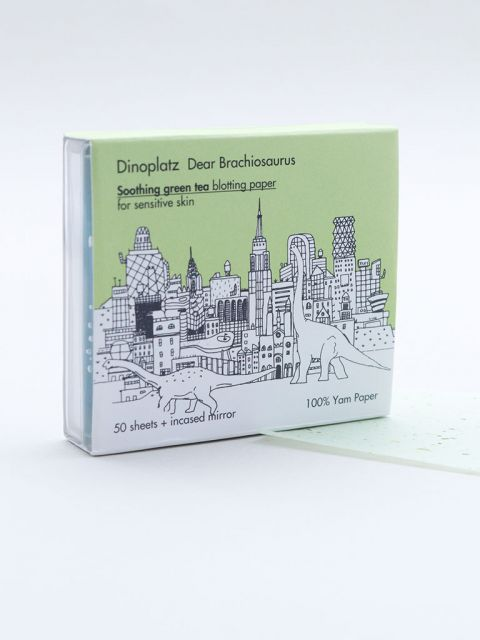 Dinoplatz Dear Brachiosaurus Soothing Green Tea Blotting Paper (50 sheets)