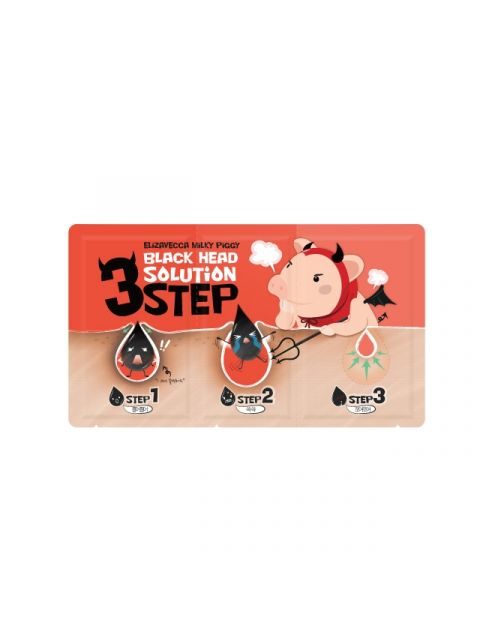 Black Head solution 3-Step Nose Pack (6g)_1 Sheet