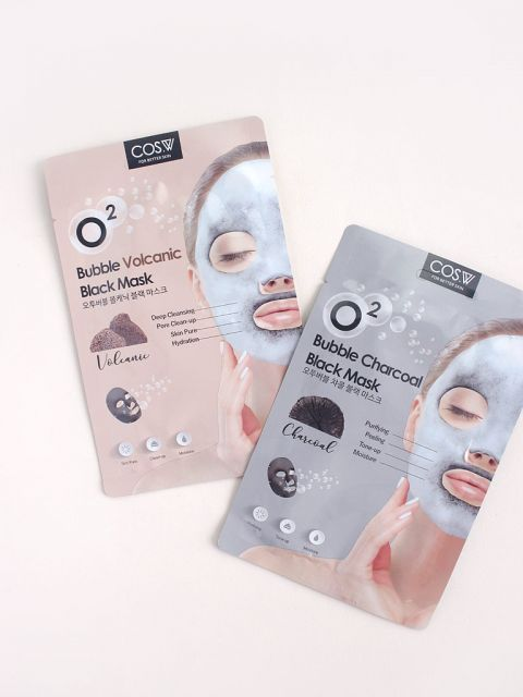 O2 Bubble Black Mask (1 Sheet)