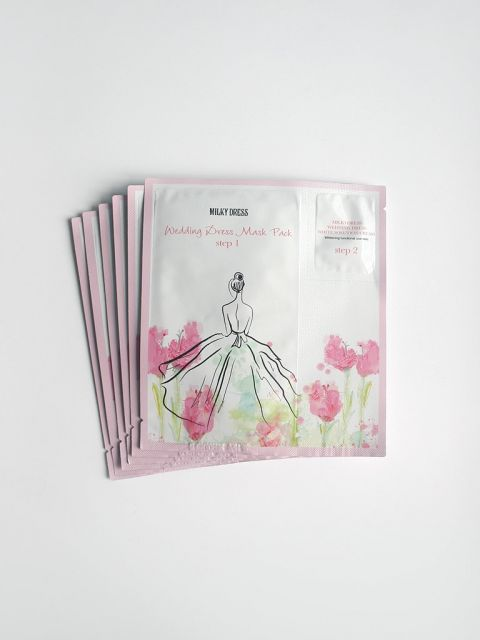 Wedding Dress Mask Pack (Step1&2) Set (6 Sheets)