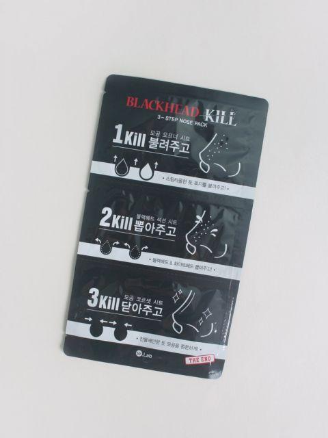 Blackhead Kill 3-Step Nose Pack 1 Sheet (3g/0.2g/3g)
