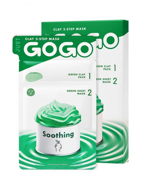 Just Go Go Clay 2-Step Mask Soothing 1 Sheet (6ml / 23ml)