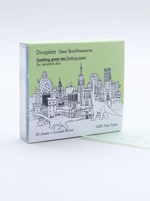 Dinoplatz Dear Brachiosaurus Soothing Green Tea Blotting Paper (50 sheets)